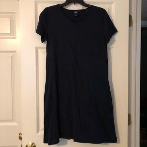 Navy T-Shirt Maternity Dress